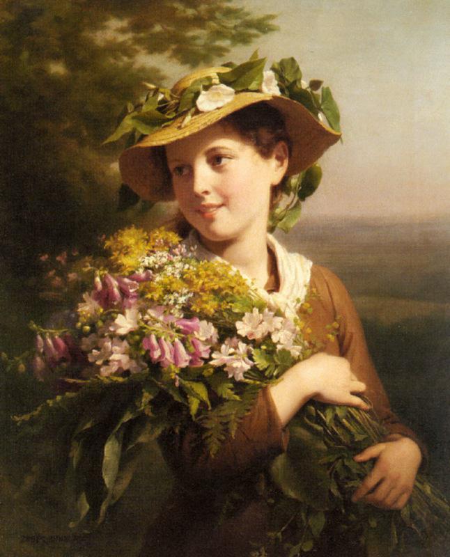 Дама с цветами картинки 1
