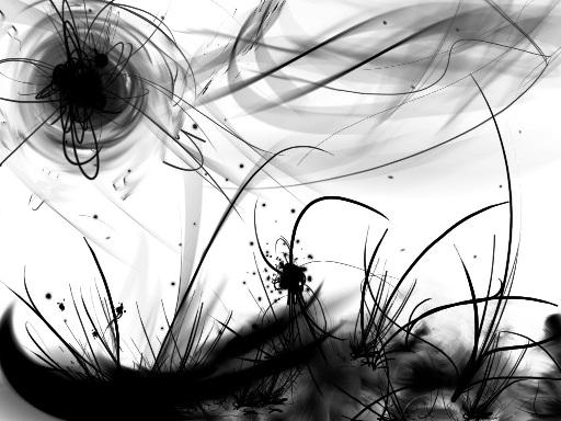 Черно-белые рисунки девушек.