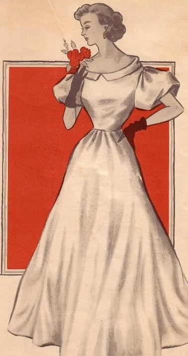 Вовнутрь бального платья 50 х годов