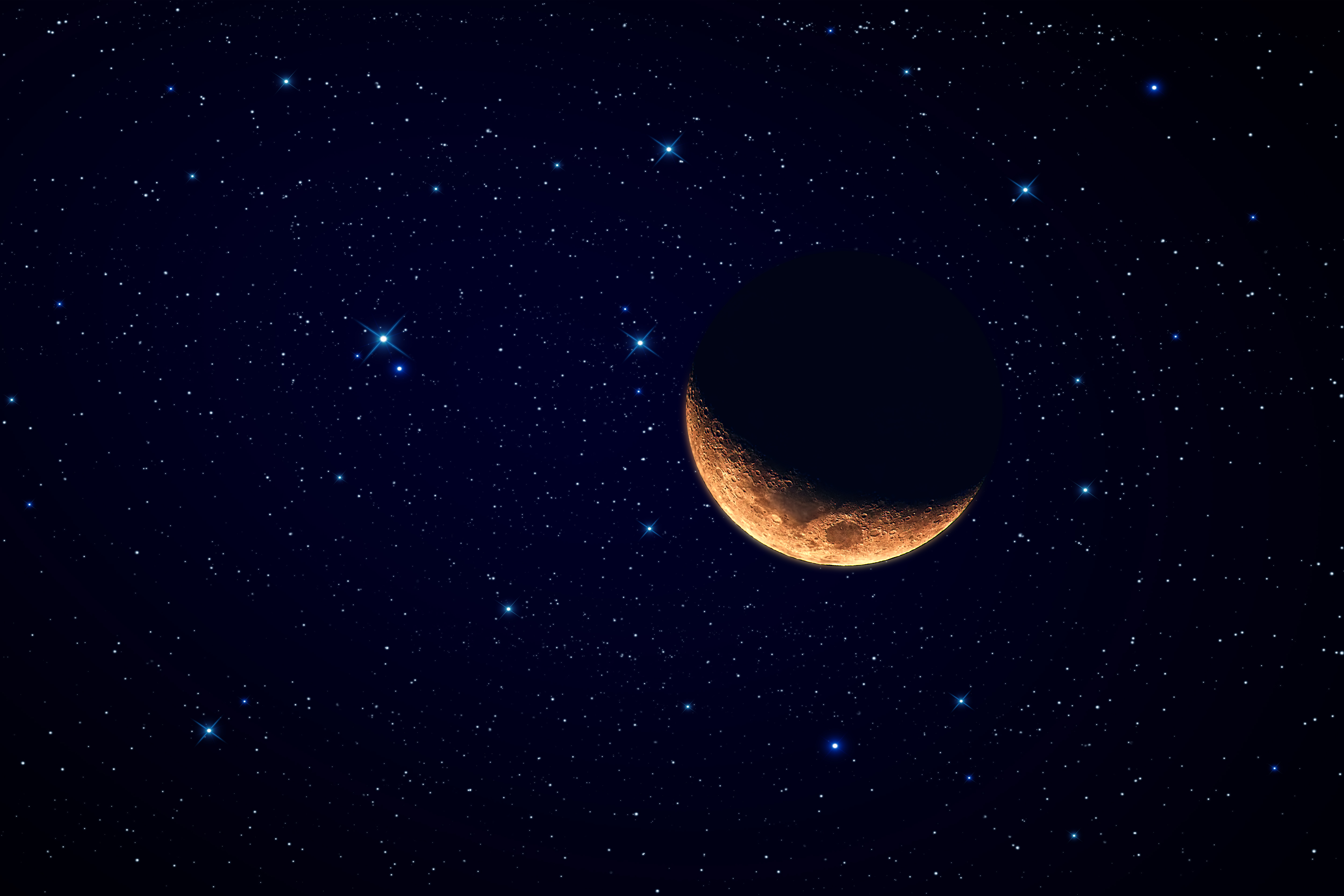 Звезды и луна красивое фото космос 4