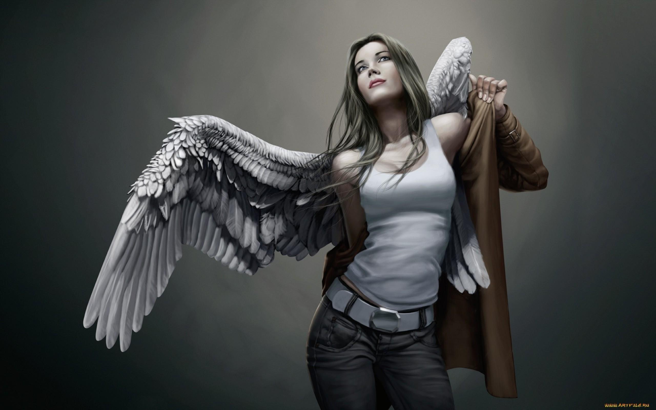 Фото девушки ангела с оружием 17 фотография